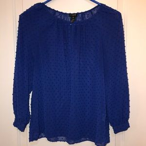 J. Crew women's blouse with textured polka dots